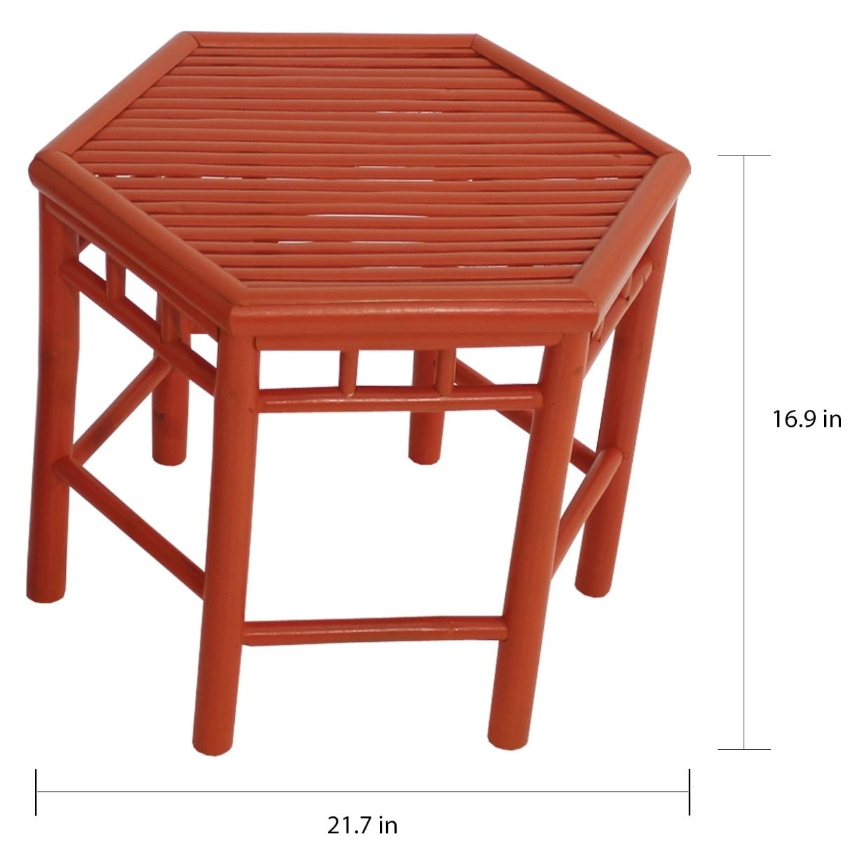 Havenside Home Naukati Bay Orange Bamboo End Tables Set Of 2
