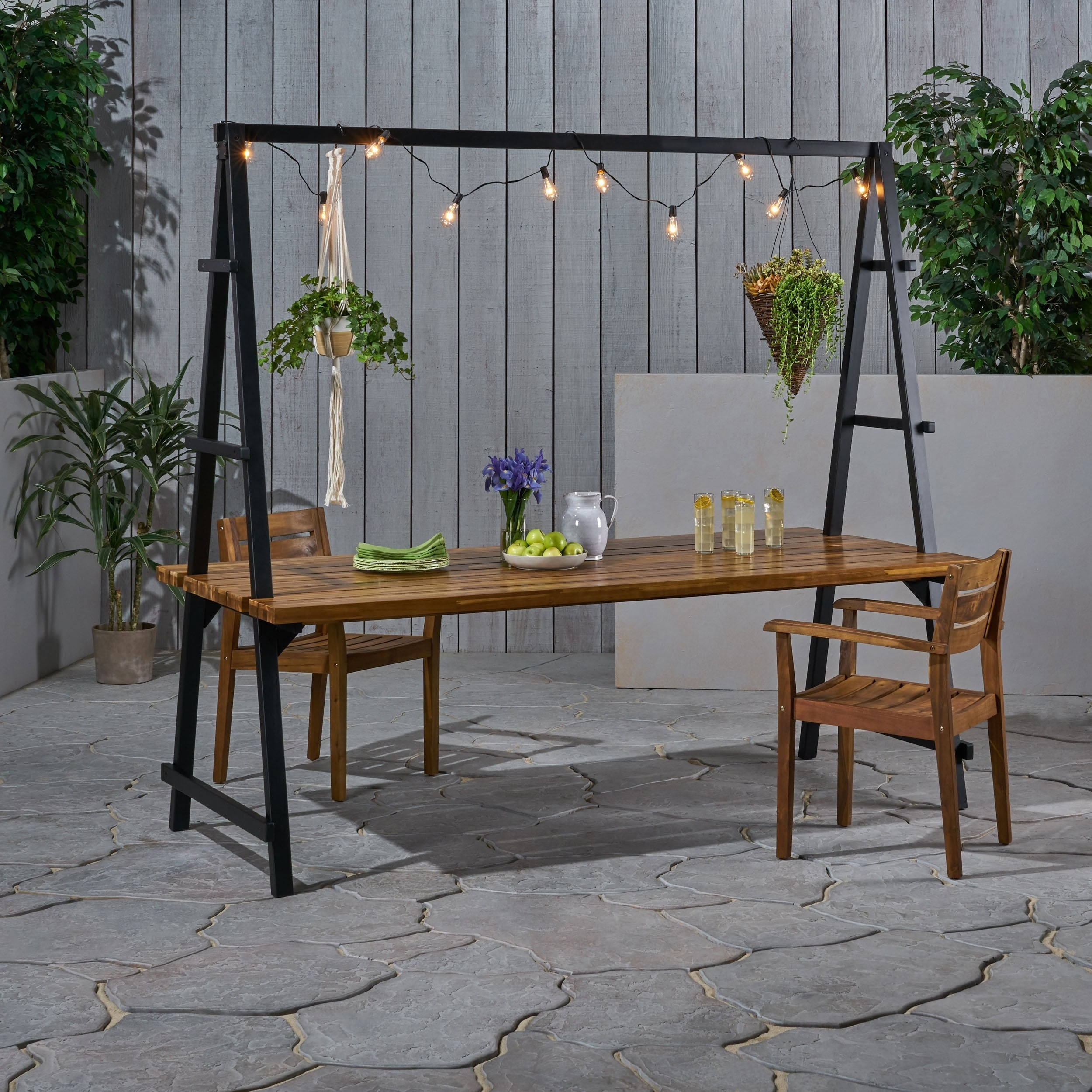 Outdoor Acacia Wood 88 5 Dining Table