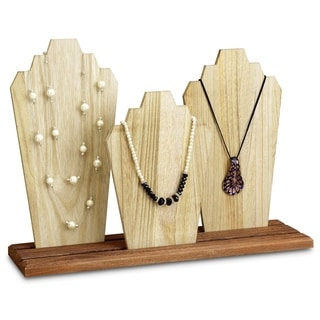 Wooden Necklace Jewelry Display Bust Stand