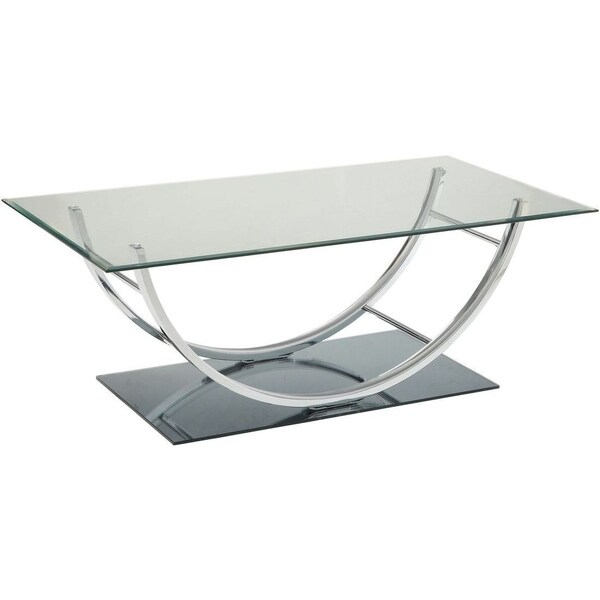 Amelia Glass and Metal Coffee Table
