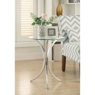 Celeste Chrome and Glass Accent Table