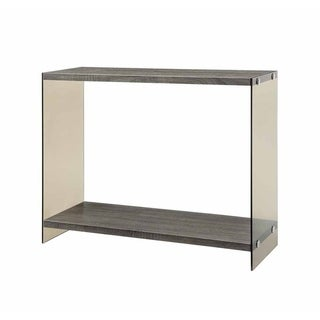 Justine Glass and Wood Sofa Table