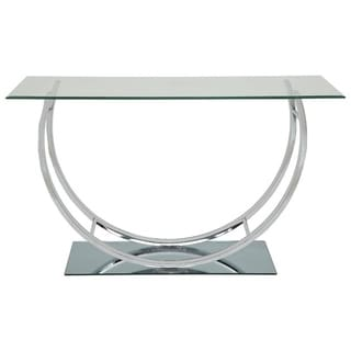 Amelia Glass and Metal Sofa Table