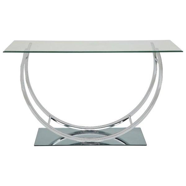 Amelia Glass and Metal Sofa Table