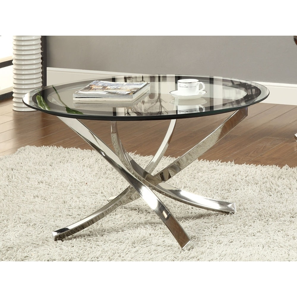 - Shop Maren Glass And Round Coffee Table - On Sale - Overstock