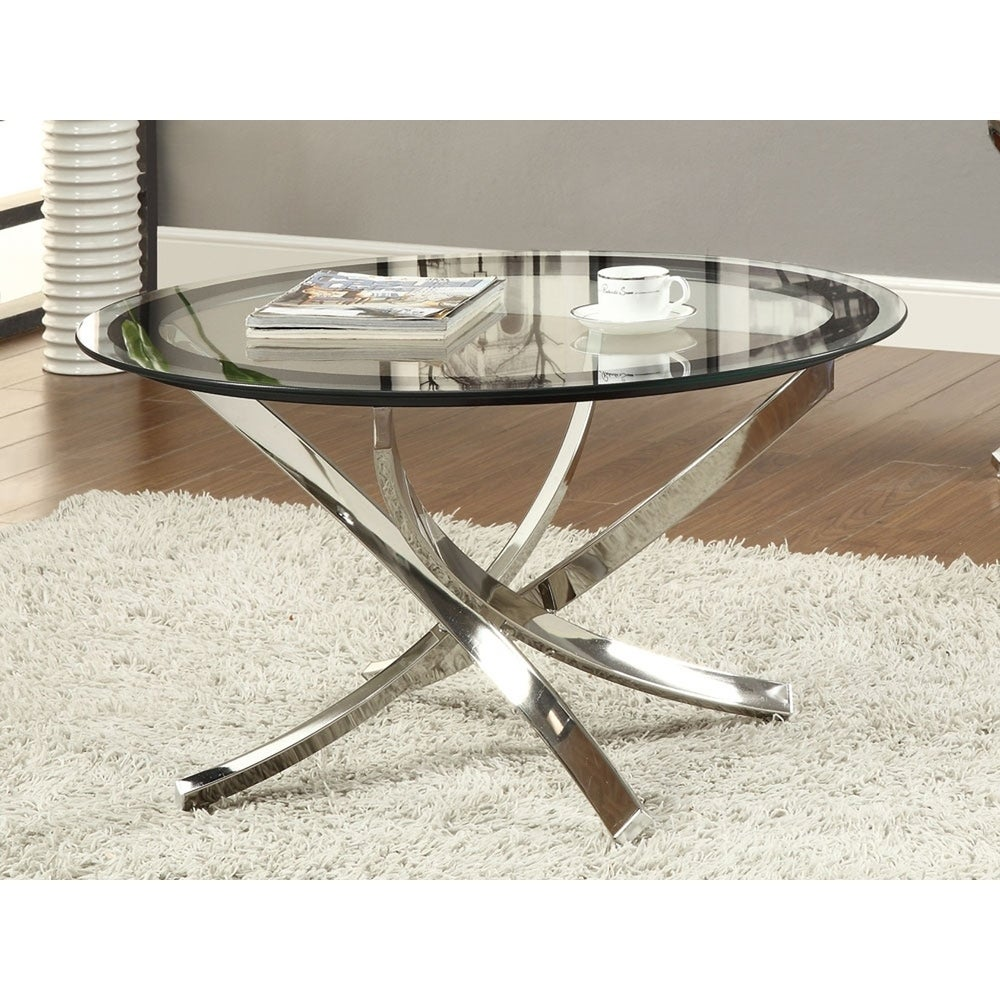 - Shop Maren Glass And Round Coffee Table - Overstock - 27659954