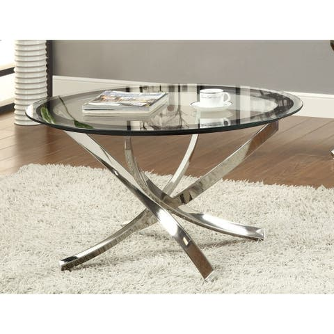 Maren Glass and Round Coffee Table