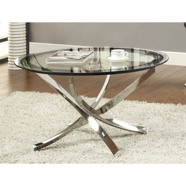 Shop Maren Glass And Round Coffee Table Ships To Canada