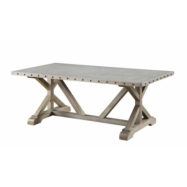 Shop Saginaw Driftwood Wood Coffee Table   Free Shipping Today   Overstock    27659958