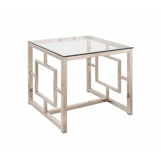 Durst Glass Top End Table