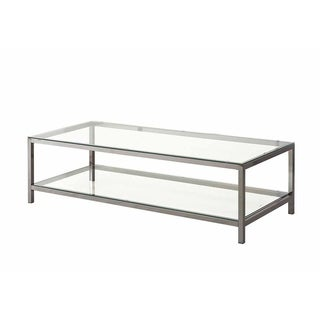 Weston Contemporary Glass and Metal Coffee Table