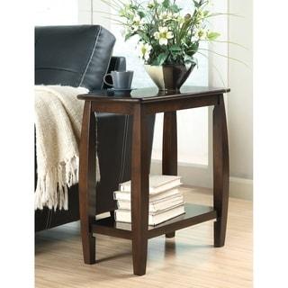 Nesbitt Cappuccino Wood Chairside Table