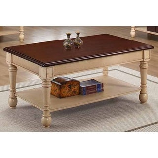 Madeleine Transitional Wood Coffee Table