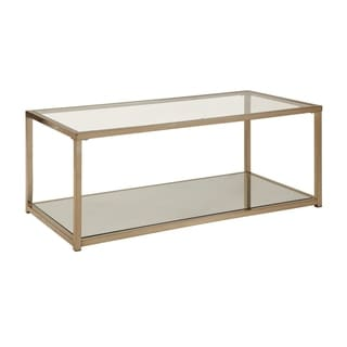 Silver Orchid Richard Glass and Metal Coffee Table