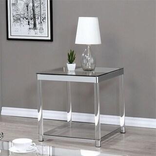Vertigo Glass and Acrylic End Table