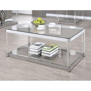 Vertigo Glass and Acrylic Coffee Table