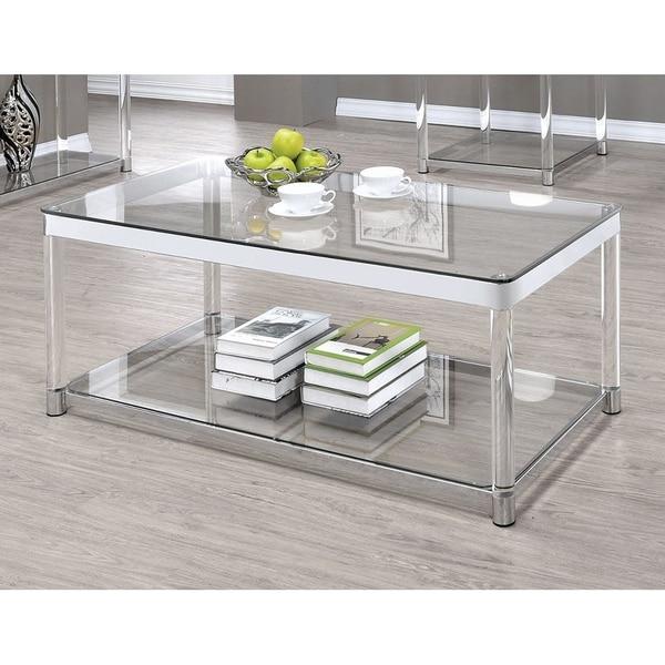 Acrylic And Glass Coffee Table: Shop Vertigo Glass And Acrylic Coffee Table
