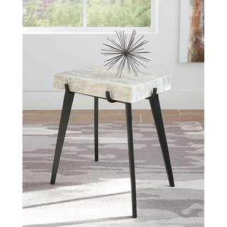 Moreno Marble and Iron Accent Table