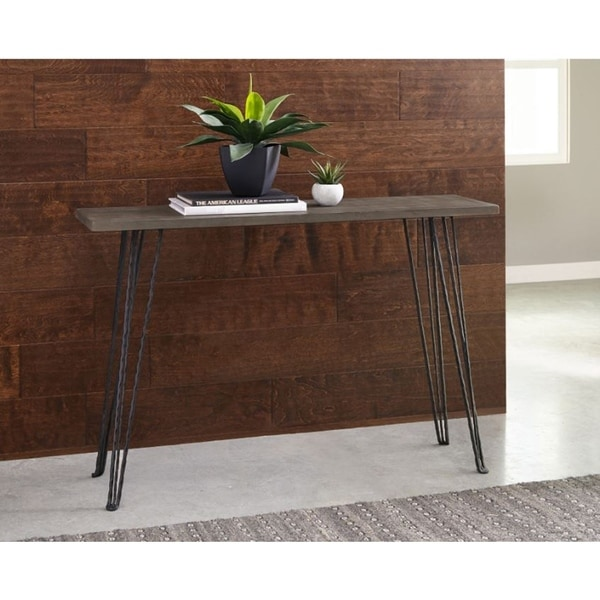 Marrowstone Concrete and Metal Console Table