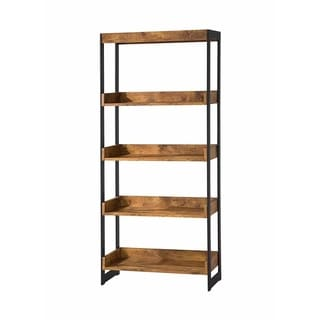 Kelly Industrial Antique Nutmeg Bookcase