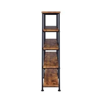Carbon Loft Glazer Industrial Double-wide Bookcase