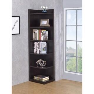 Porch & Den Fescue Cappuccino Corner Bookcase