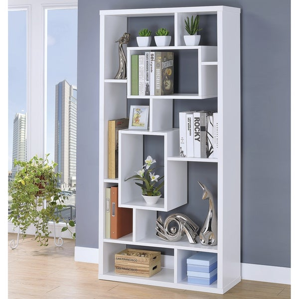 Copper Grove Sucy 10-shelf Modern Geometric Bookcase