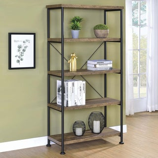 Link to Carbon Loft Virginia Industrial 4-shelf Bookcase Similar Items in Bookshelves