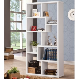 Link to Copper Grove Cavaillon 8-shelf Modern Geometric Bookcase Similar Items in Bookshelves & Bookcases