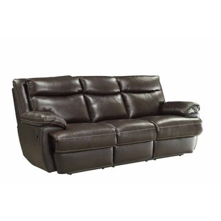 Haley Brown Leather Reclining Sofa