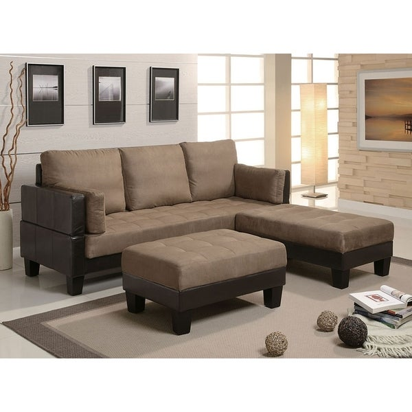 Paisley Tan Microfiber Contemporary Sofa Bed