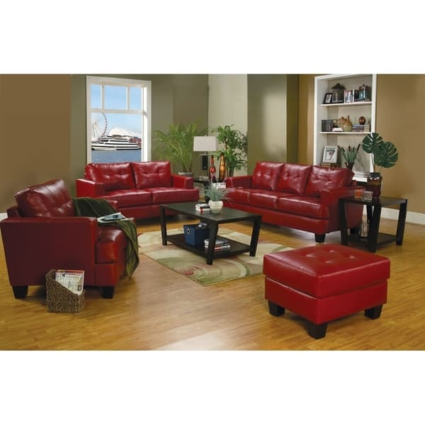 Shop Rumi Black Red Cream Bonded Leather Transitional