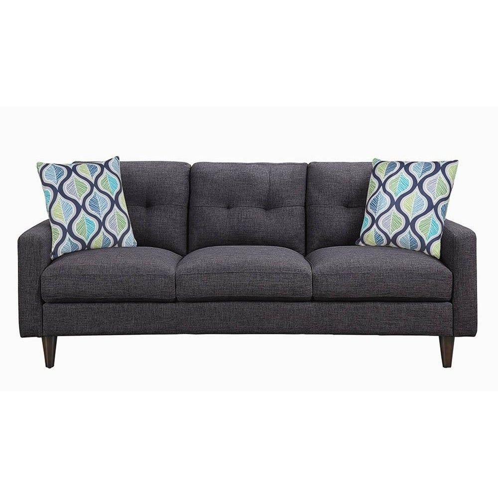 Montebello Retro Grey Tufted Sofa Free Shipping Today 27660323