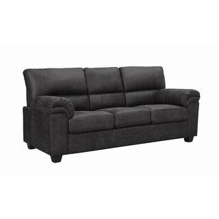 Linden Transitional Charcoal Microfiber Sofa