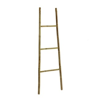 Bamboo Bath Towel Ladder Rack - Natural Color