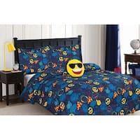 Emoji 4pc Comforter Set with Decorative Pillow