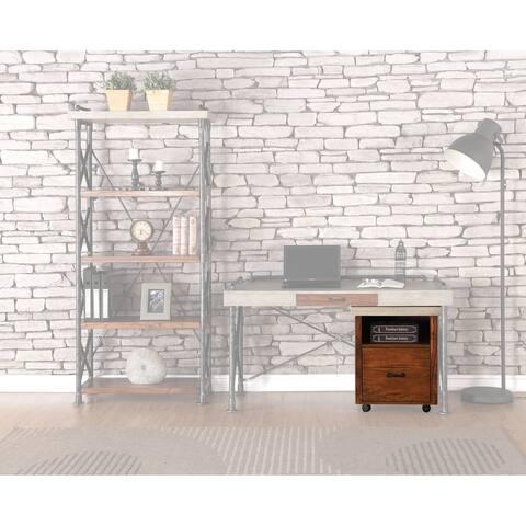 Carbon Loft Masekela Steampunk Chestnut Rolling File Cabinet