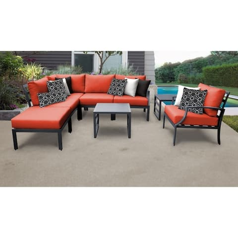 Lexington 8-piece Outdoor Aluminum Patio Furniture Set 08m