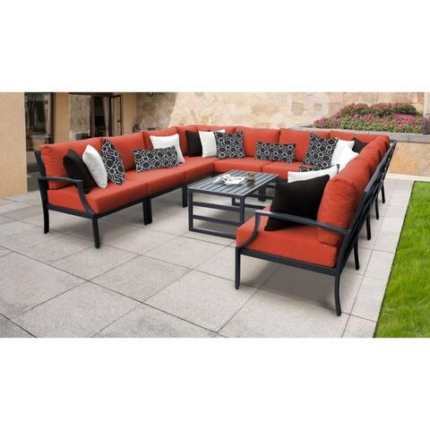 Lexington 11-piece Outdoor Aluminum Patio Furniture Set 11a