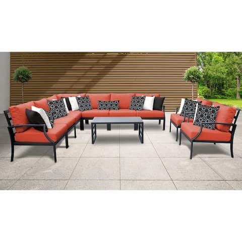 Lexington 10-piece Outdoor Aluminum Patio Furniture Set 10a