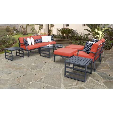 Lexington 10-piece Outdoor Aluminum Patio Furniture Set 10c