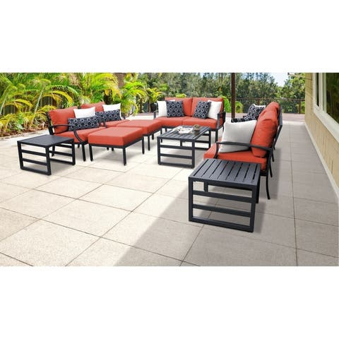 Lexington 12-piece Outdoor Aluminum Patio Furniture Set 12h