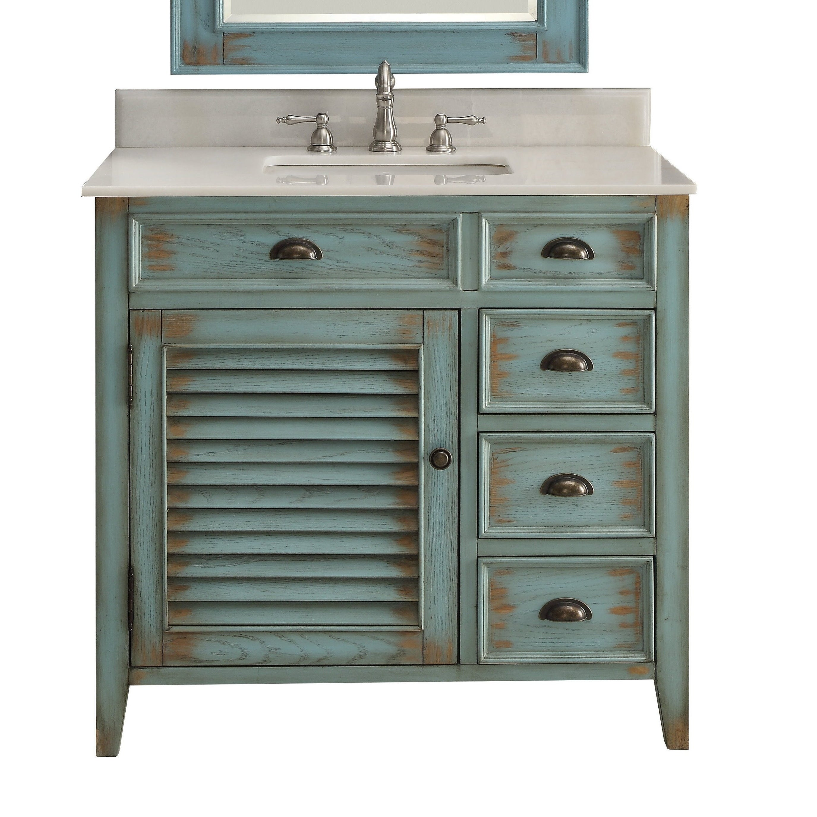 Benton Collection Abbeville 36 Inch Farmhouse Rustic Bathroom Vanity On Sale Overstock 27661588