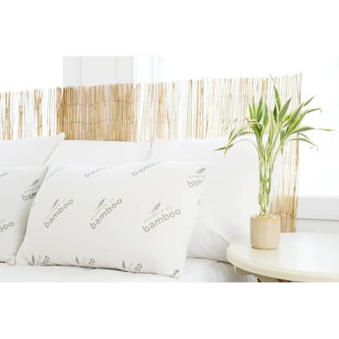 Essence of Bamboo 2PK Pillow - White