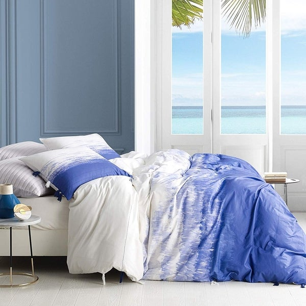 Ombre Ocean Purple Navy Duvet Cover