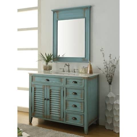 """42"""" Benton Collection Abbeville Rustic Bathroom Vanity & Mirror"""