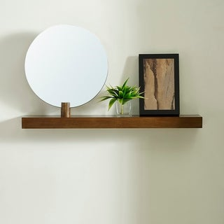 Strick & Bolton Amelia Modern Contemporary Dark Sienna Shelf