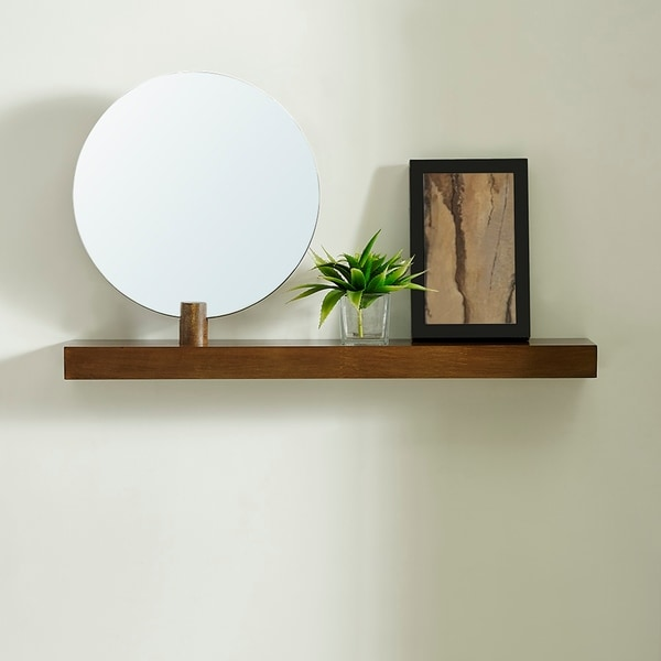 Strick & Bolton Amelia Modern Contemporary Dark Sienna Shelf. Opens flyout.