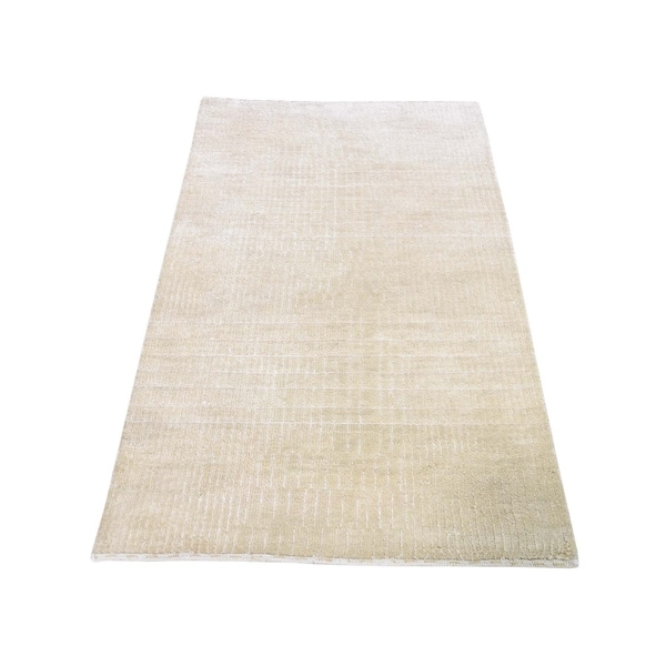 "Shahbanu Rugs Hand-Knotted Wool and Silk Tone-on-Tone Nepali Oriental Rug (2'3"" x 4'2"") - 2'3"" x 4'2"""