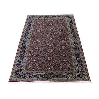 "Shahbanu Rugs Herati Fish Design 175 KPSI Hand-Knotted Wool And Silk Oriental Rug (3'1"" x 5'0"") - 3'1"" x 5'0"""